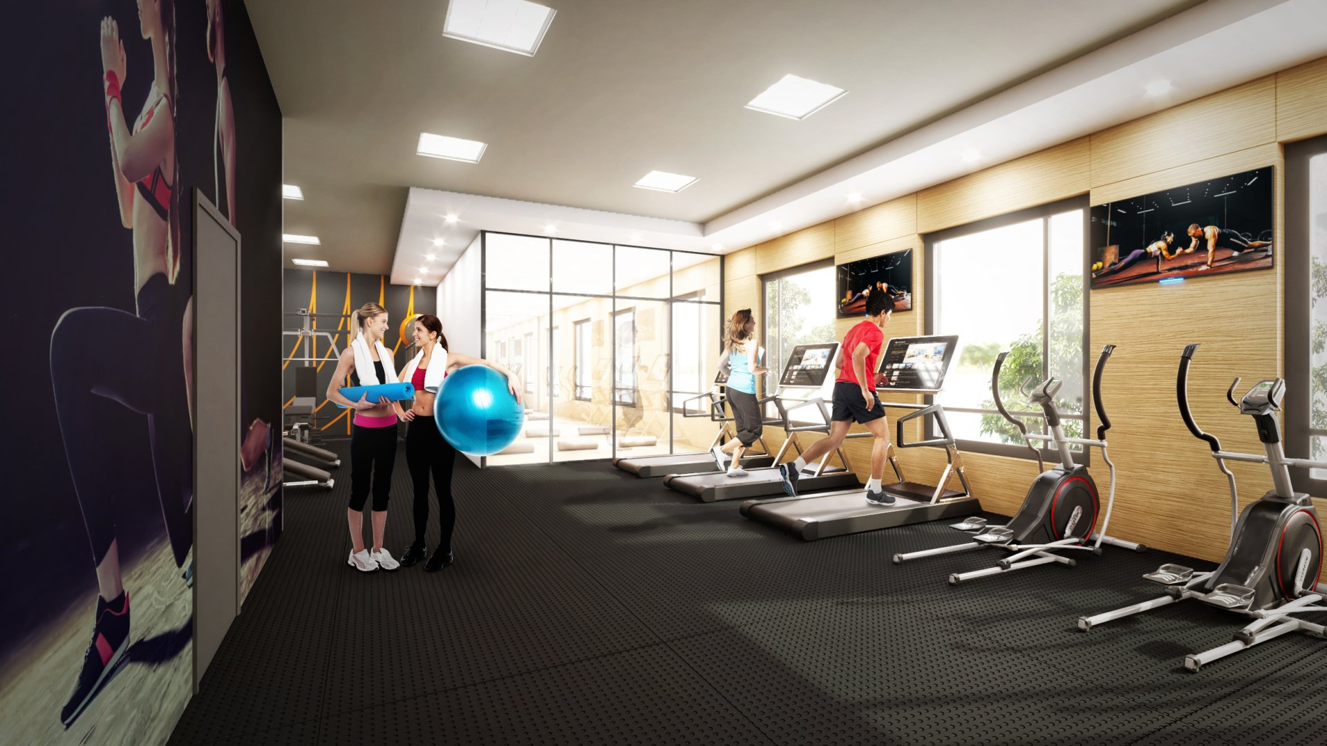 nahid kennedy - exercise room with people