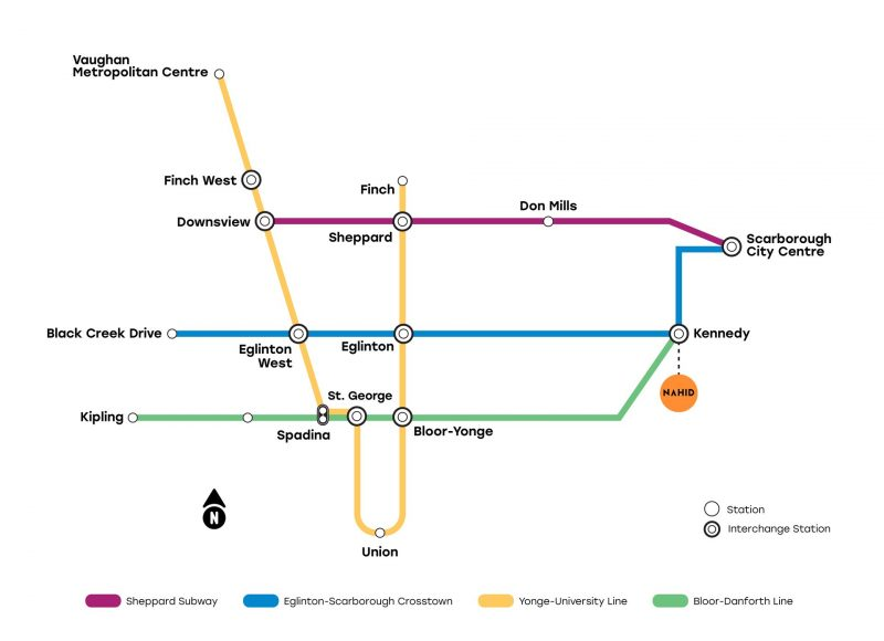 nahid kennedy ttc line map